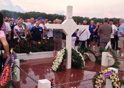 Anzac Day at Long Tan Cross