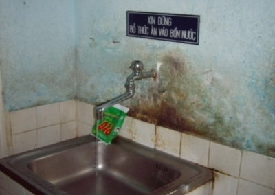 Hand Hygiene facilities in 2006 at one of the hospitals before an Infection Control and Hand Hygiene seminar