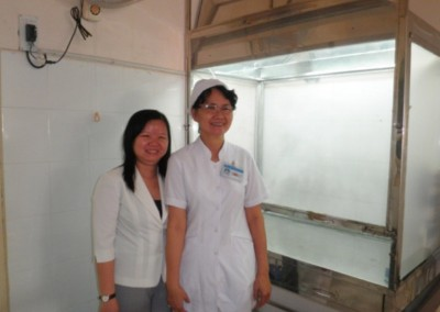 2009 Chemotherapy seminar was held at Tu Du hospital The next year, they had built a chemotherapy preparation cabinet