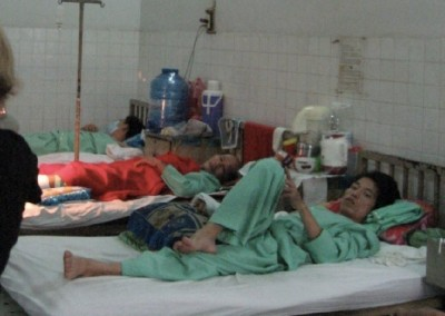 Cho Ray has 1700 beds with approximately 3000 patients