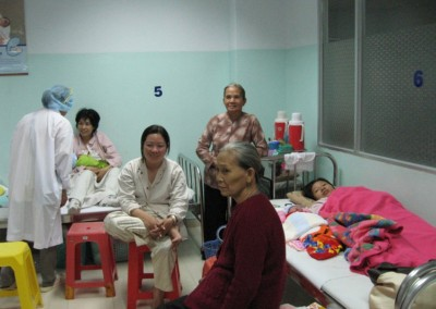 relatives in the hospital.