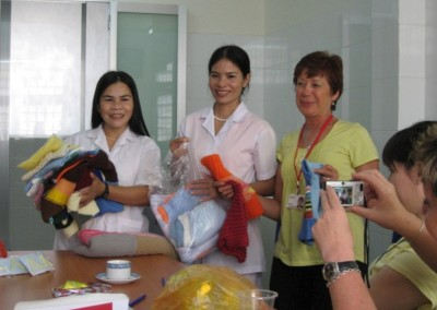 We also take gifts that have been donated by team members family and friends