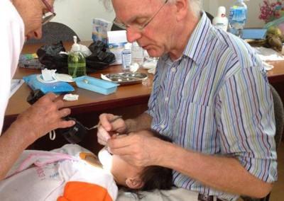 A volunteer dentist