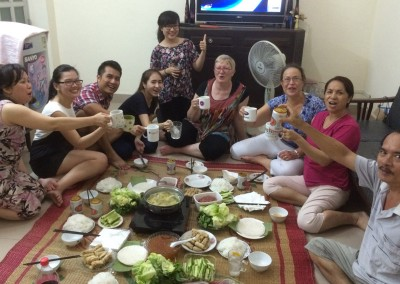 Because of our continuing friendship, we have also been lucky enough to be invited to the homes of staff to meet their families and to share a meal.