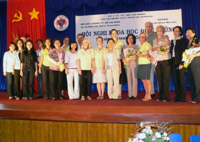 During the annual team visits education and sharing of knowledge is done in many ways.In 2003 the team participated in the first International Nurses conference.