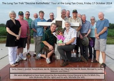 Tour group at the Long Tan Cross