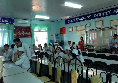 Class break 2014 Chau Duc Hospital
