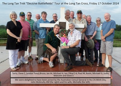Tour group at the Long Tan Cross